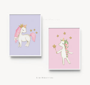 Color Unicorns - set of 2