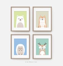 Load image into Gallery viewer, Colorful Animals - set of 4
