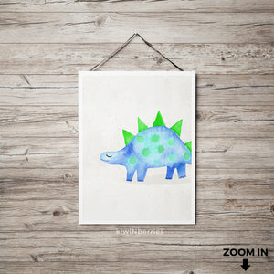 Watercolor Dino No.5