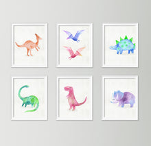 Load image into Gallery viewer, Watercolor Dino No.2
