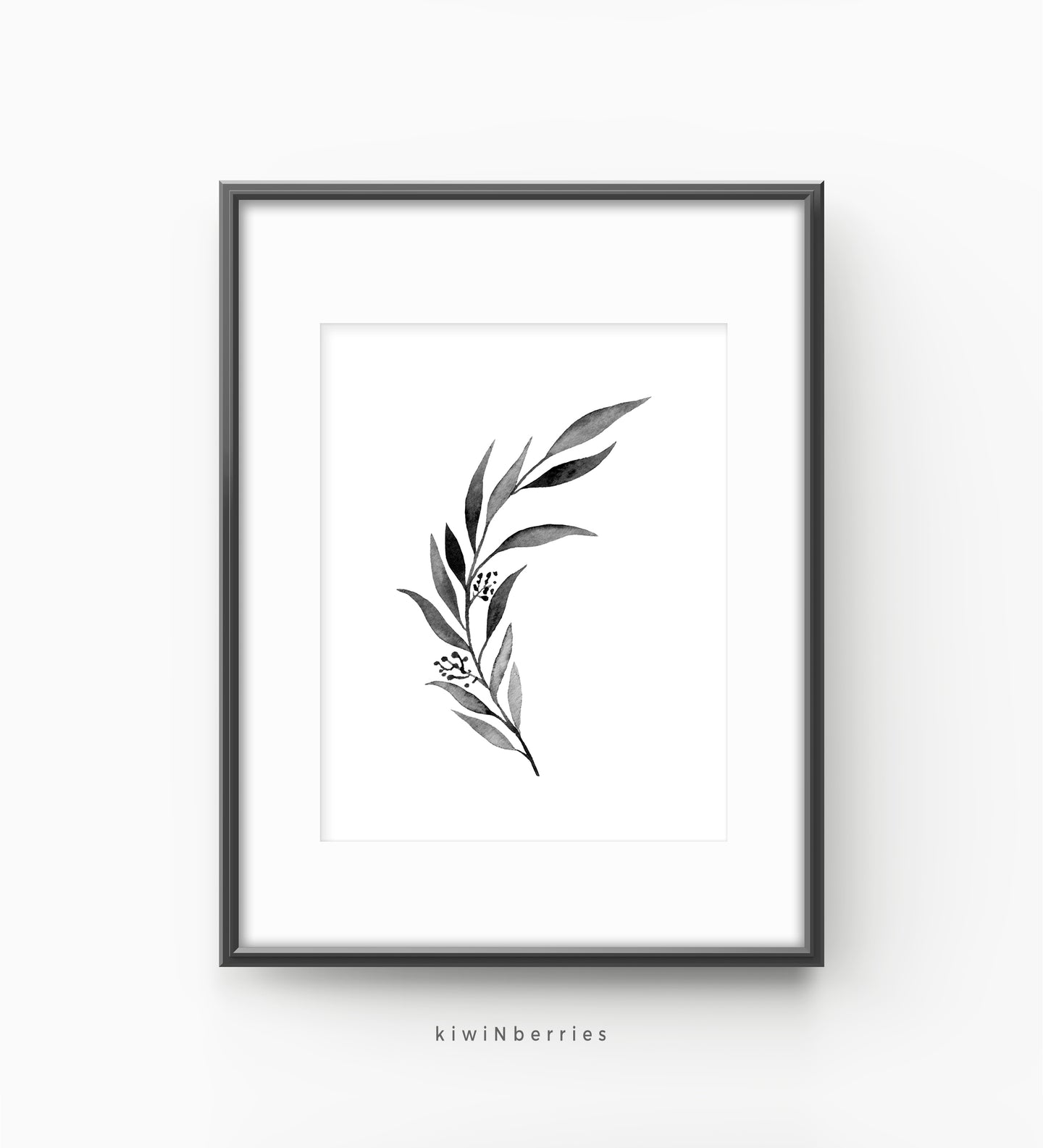 Eucalyptus monochrome leaf No.3