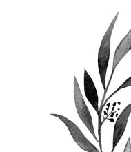 Load image into Gallery viewer, Eucalyptus monochrome leaf No.3
