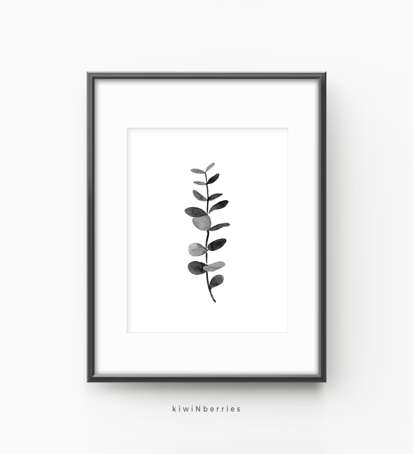 Eucalyptus monochrome leaf No.4