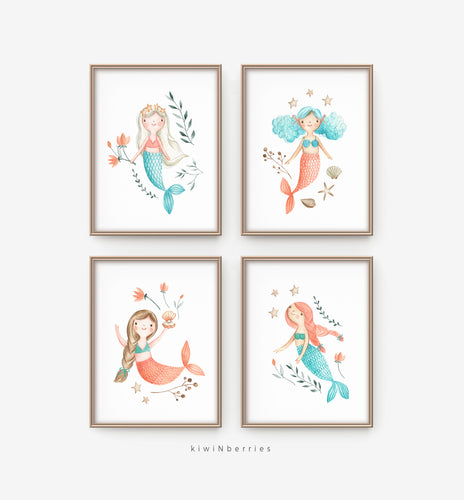 Quirky Mermaids - set of 4