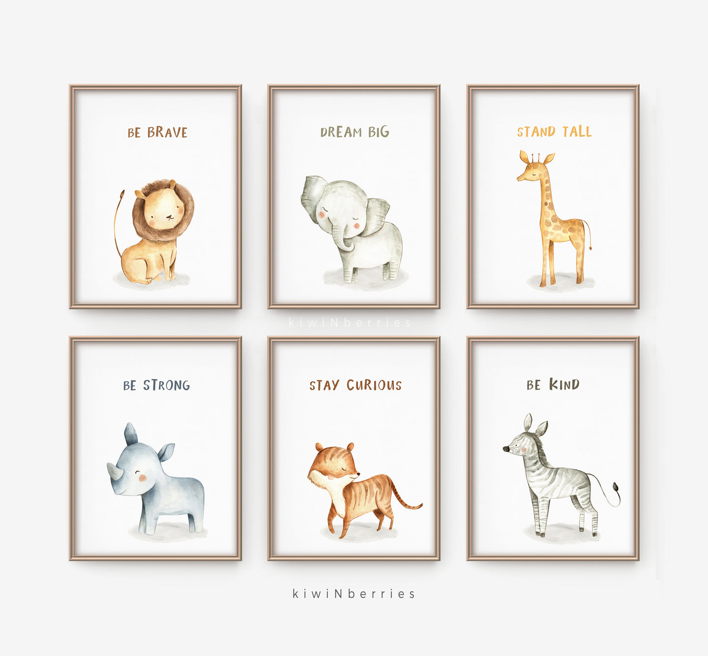 Lil' Animals with Quotes - set of 6