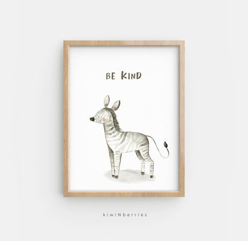 Be Kind Zebra