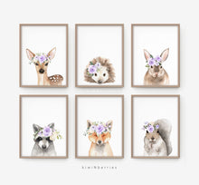 Load image into Gallery viewer, Fox with Lilac Flowers