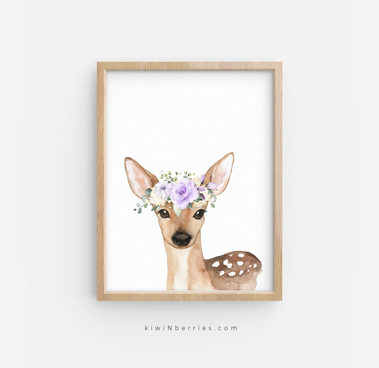 Deer with Lilac Flowers