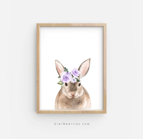 Rabbit with Lilac Flowers