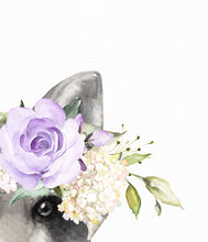 Load image into Gallery viewer, Raccoon with Lilac Flowers