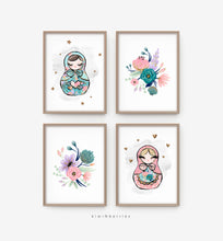 Load image into Gallery viewer, Teal Matryoshka