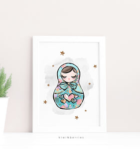 Teal Matryoshka