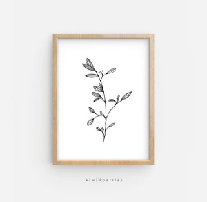 Pencil Botanical No.1