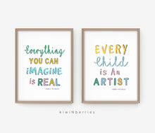 Load image into Gallery viewer, Playroom Picasso Quotes - set of 2
