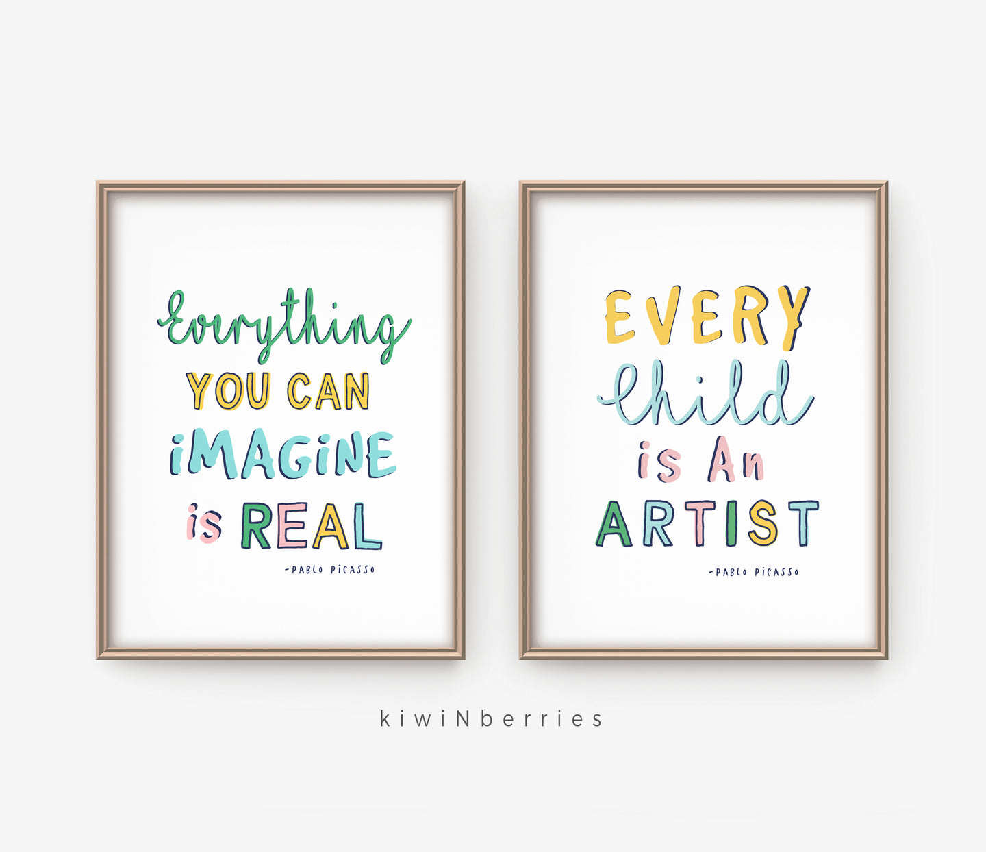 Playroom Picasso Quotes - set of 2