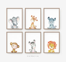 Load image into Gallery viewer, Safari Animals - set of 6