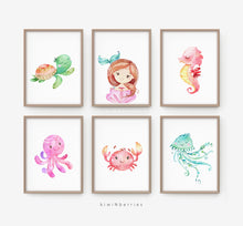 Load image into Gallery viewer, Copy of Sea Animals and Mermaid - set of 6