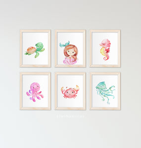 Copy of Sea Animals and Mermaid - set of 6