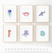 Load image into Gallery viewer, Sea Animals - set of 6
