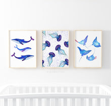Load image into Gallery viewer, Galaxy Sea Animals - set of 3