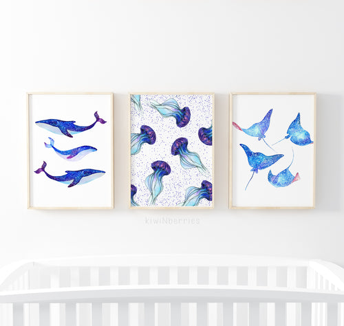 Galaxy Sea Animals - set of 3