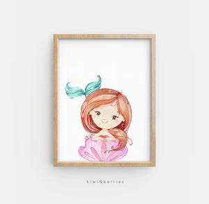 Sea Animals and Mermaid - set of 8