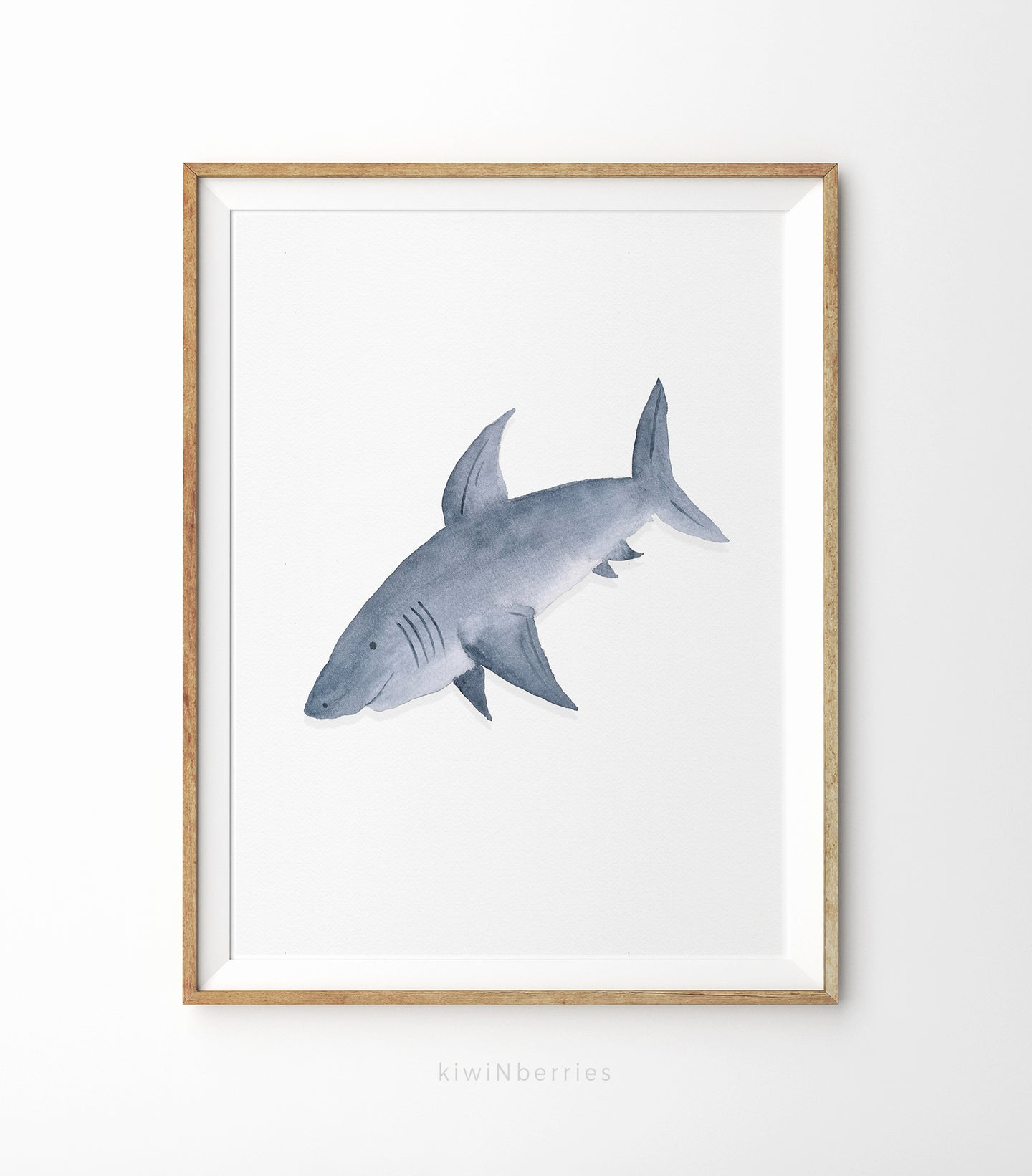 Shark Watercolor