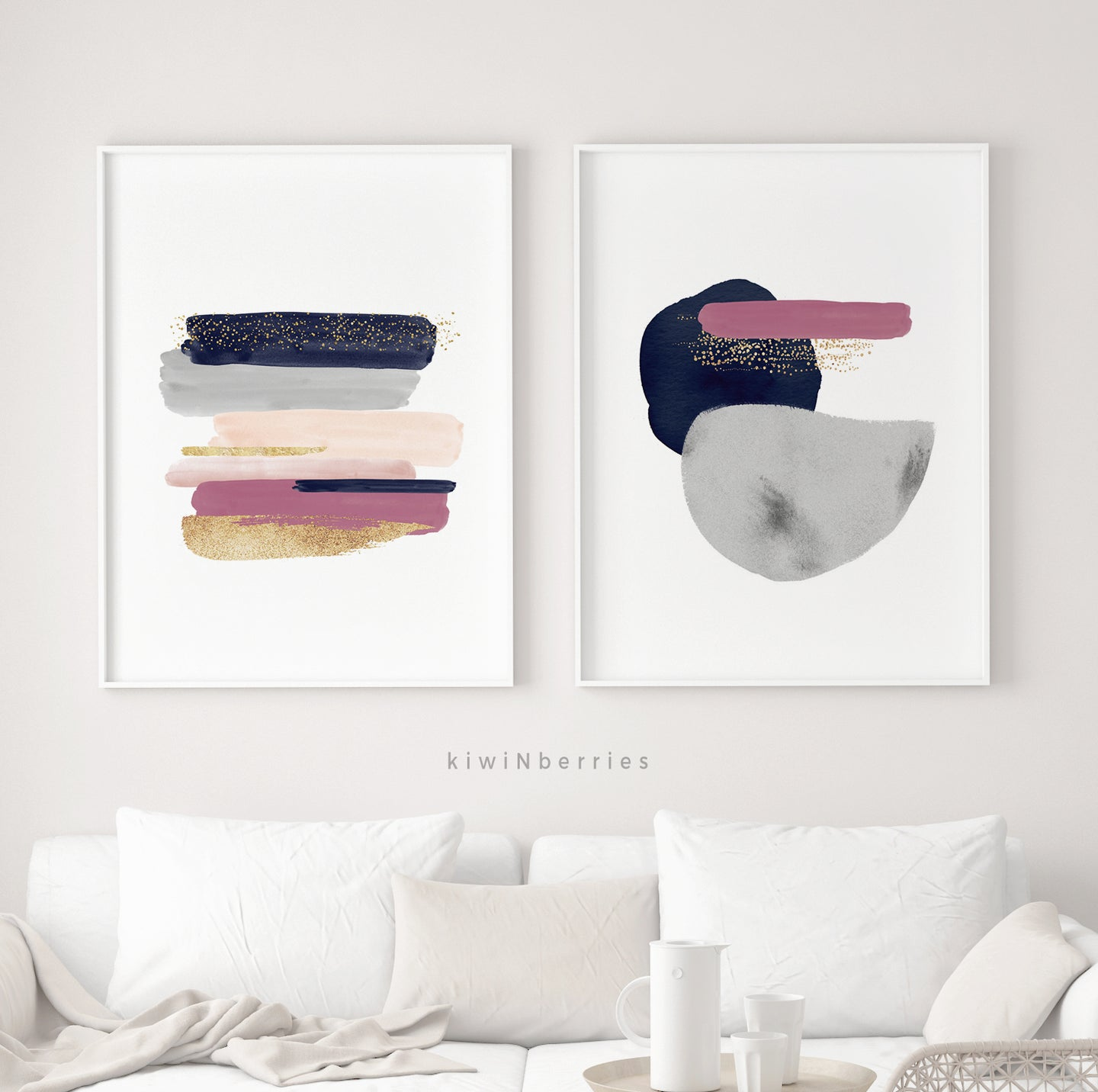 Abstract Strokes - set of 2