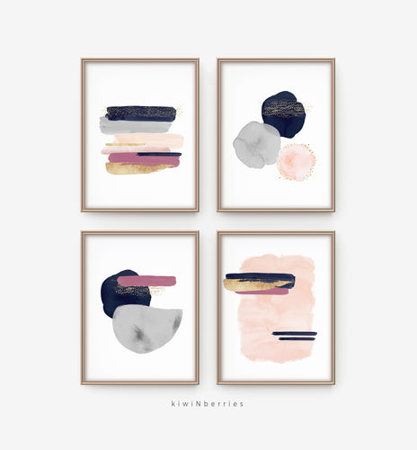 Abstract Watercolor Strokes - set of 4