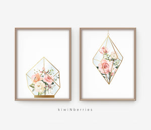 Rose Terrariums - set of 2