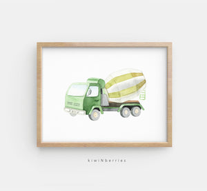 Construction Trucks - set of 4