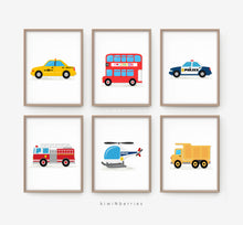 Load image into Gallery viewer, Transportation - set of 6