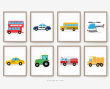 Load image into Gallery viewer, Transportation - set of 8