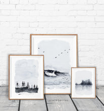Load image into Gallery viewer, Landscape Watercolor - set of 5