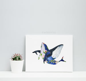 Floral Oceanic Animals - set of 4