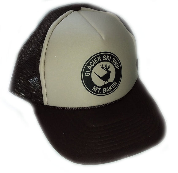 Glacier Ski Shop Jackalope Trucker Hat Brown/Beige - glacier-ski-shop