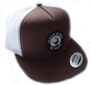 Glacier Ski Shop Jackalope Trucker Hat Brown/White Classic Snapback - glacier-ski-shop