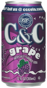 C&C Grape Soda - Case of 24 Cans