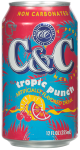 C&C Tropic Punch (Non Carbonated) - Case of 24 Cans