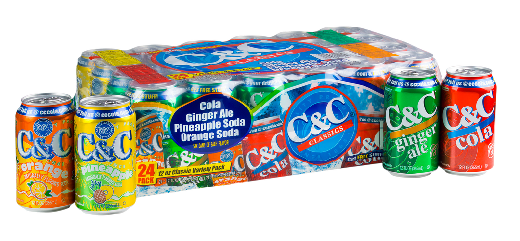 C&C Variety Pack - Case of 24 Cans
