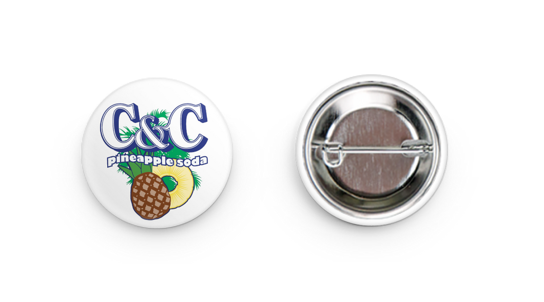 C&C Pineapple Soda Pin-back Button