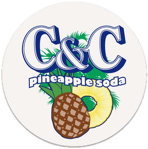 C&C Pineapple Soda Coasters (Set of 2)
