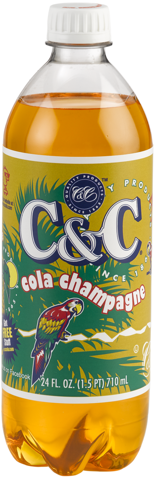 C&C Champagne Cola Soda - Case of 24 Bottles