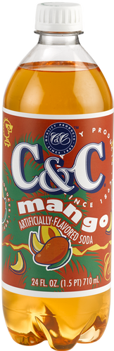 C&C Mango Soda - Case of 24 Bottles