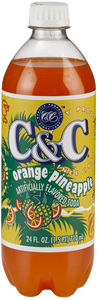 C&C Orange Pineapple Soda - Case of 24 Bottles