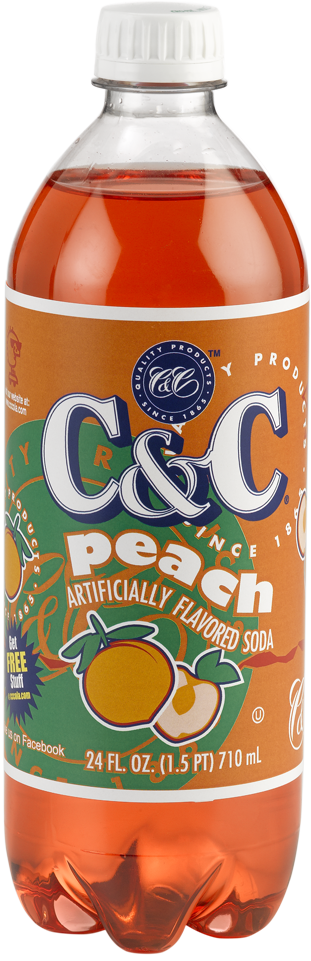C&C Peach Soda - Case of 24 Bottles