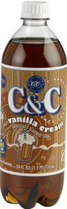 C&C Vanilla Cream Soda - Case of 24 Bottles
