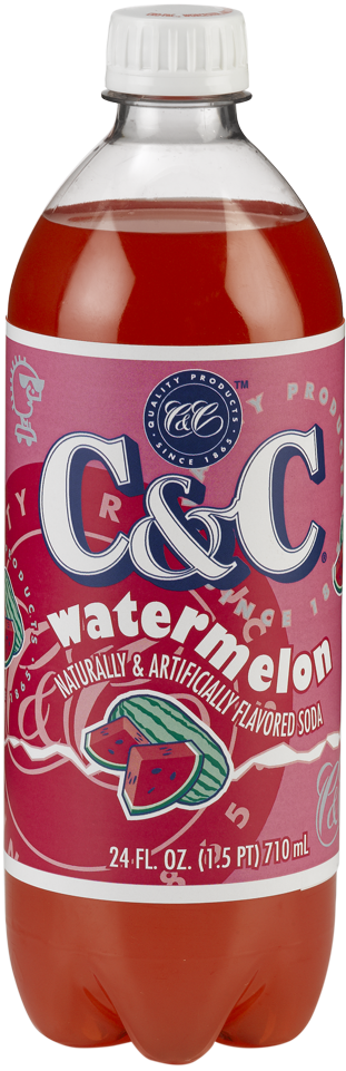 C&C Watermelon Soda - Case of 24 Bottles
