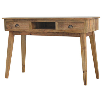 Solid Wood Writing Desk with 2 Drawers