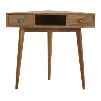 Solid Wood Corner Writing Desk